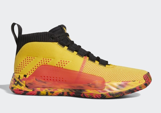 Damian Lillard Has A Wild Yellow And Red adidas Dame 5 Coming Soon
