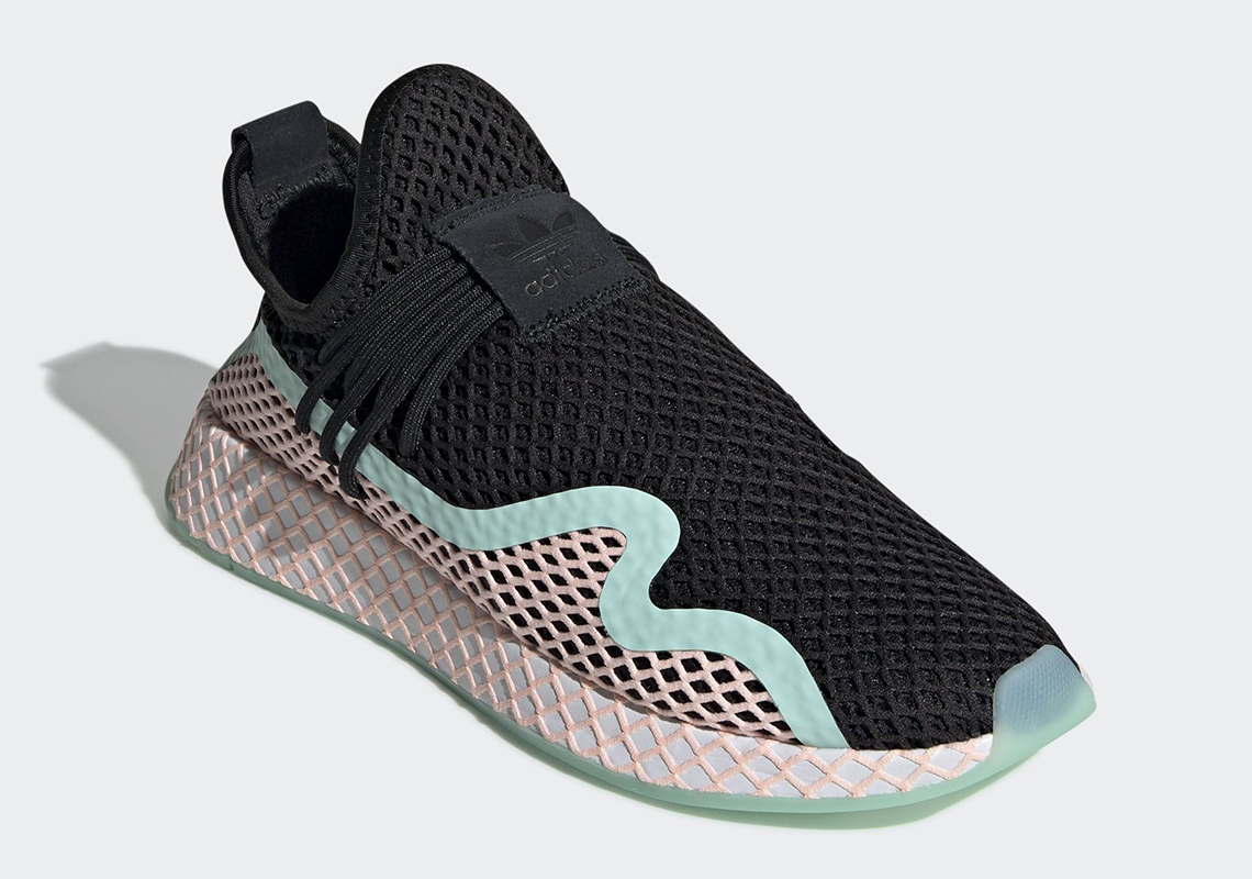 a596b2c8b6a97 adidas Deerupt S  110. Color  Core Black Clear Orange Footwear White Style  Code  BD7880