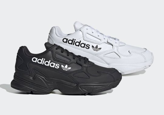 The adidas Falcon Adds Bold Branding Against Tonal Leather Uppers