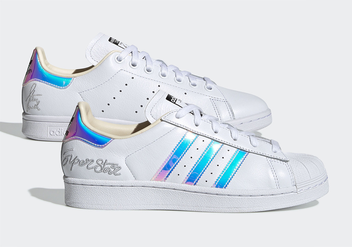 new concept bcefd c745d adidas Superstar Stan Smith Iridescent Icon Release Info ...