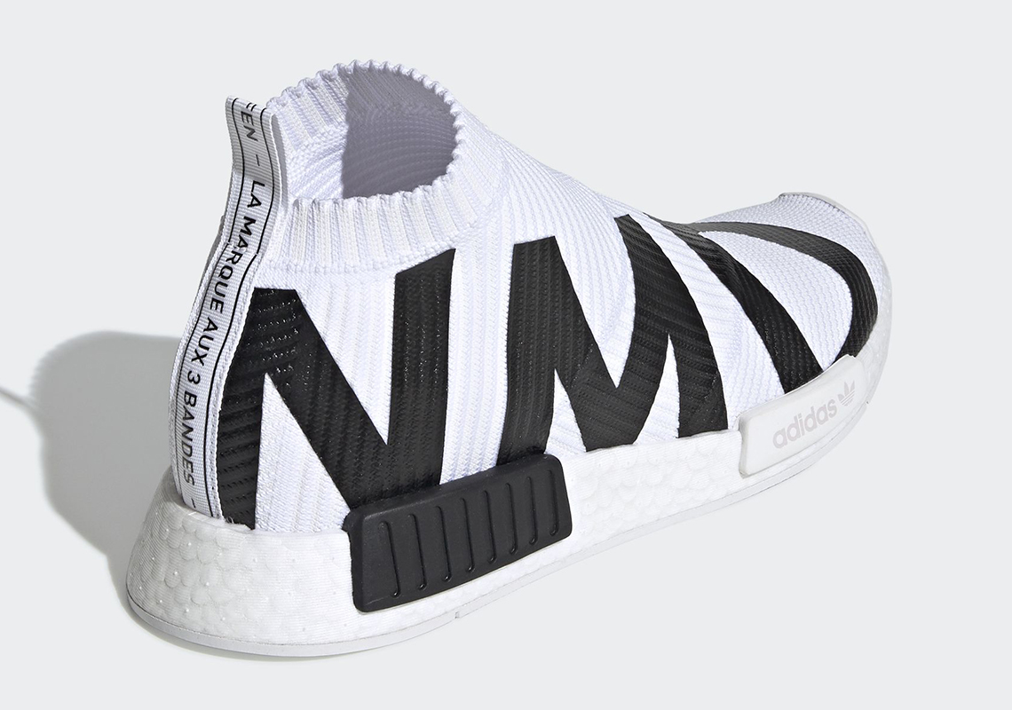 check out 52a86 c6eea adidas NMD City Sock White Black EG7538 Release Date ...