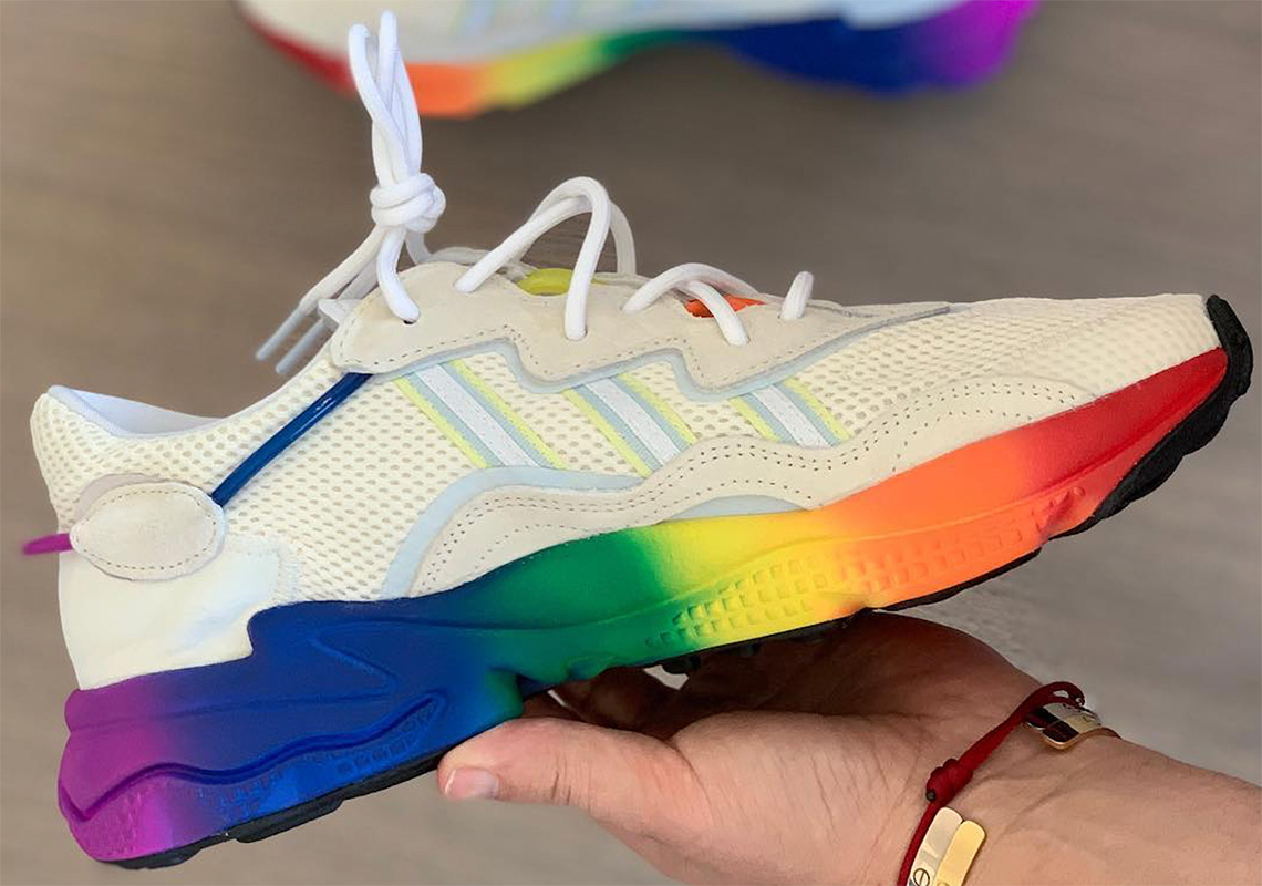 d908baccf8110e The Upcoming adidas Ozweego Neoprene Appears With Rainbow Gradient Soles
