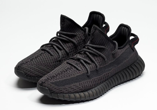 "The adidas Yeezy Boost 350 v2 ""Black"" Releases On June 22nd"