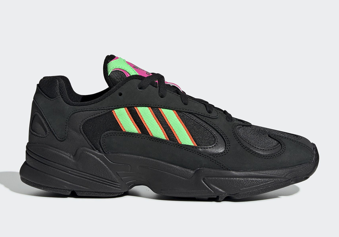 c53e08ed4dc20 Adidas Yung-1 Reinvigorates Dad Shoe Wave With Black   Neon Colorway