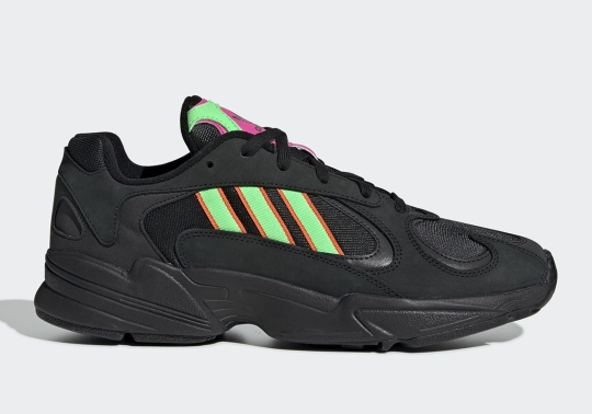 The adidas Yung-1 Pairs Neon Accents With A Triple Black Upper