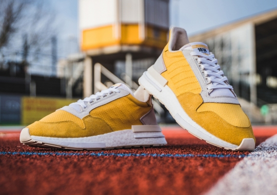 The adidas ZX 500 RM Returns With Yellow Nylon And Suede Uppers