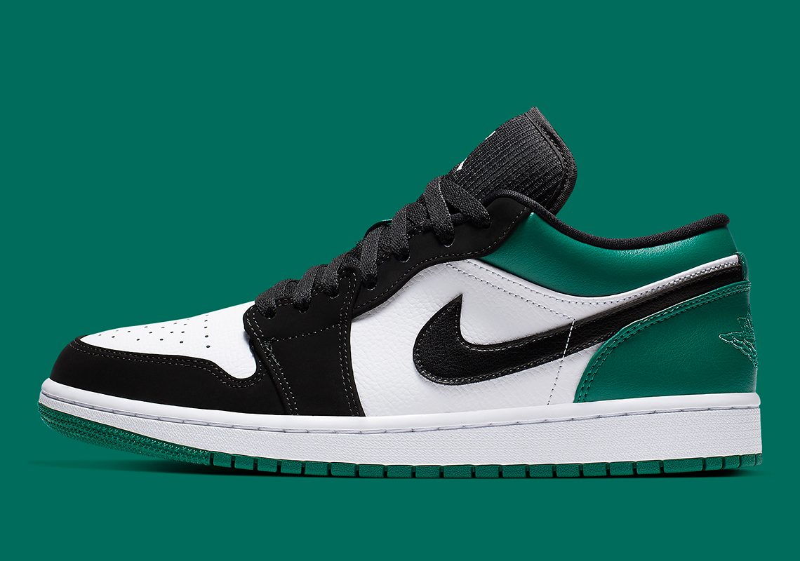 "big sale ca0d2 6bc96 The Air Jordan 1 Low ""Mystic Green"" Is Available Now"