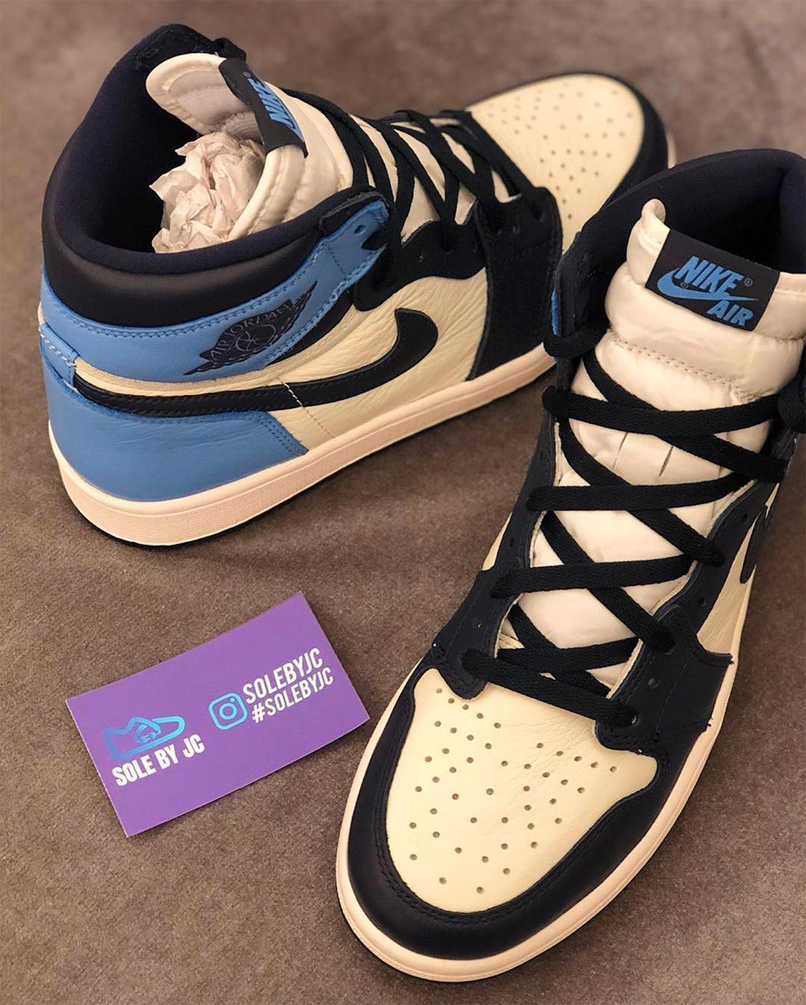 brand new attractive price on feet images of Jordan 1 UNC Leather 555088-140 Release Info | SneakerNews.com