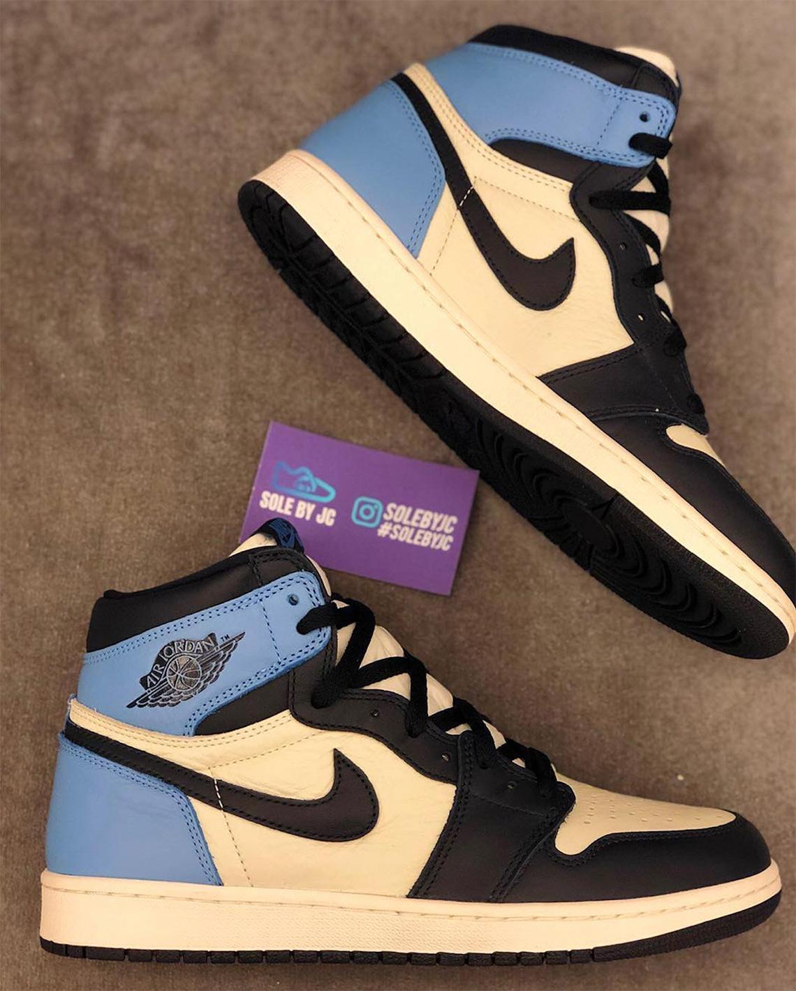 Jordan 1 UNC Leather 555088-140 Release