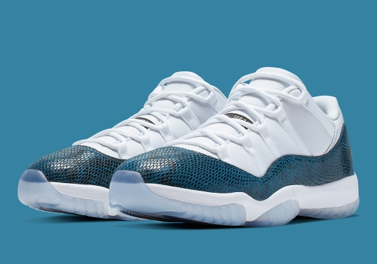 "Official Images Of The Air Jordan 11 Low ""Snakeskin"" In Navy"