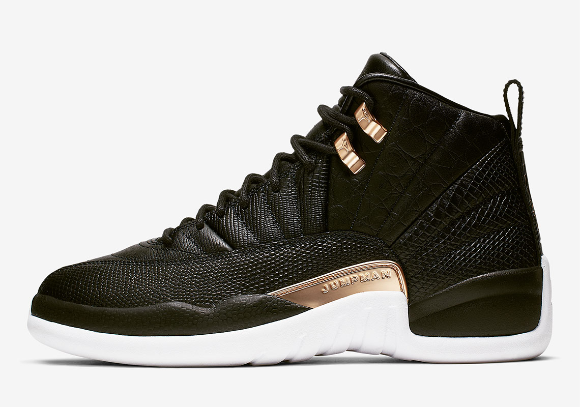 """the latest 8204c 47b24 Official Images Of The Air Jordan 12 """"Snakeskin"""" For Women"""