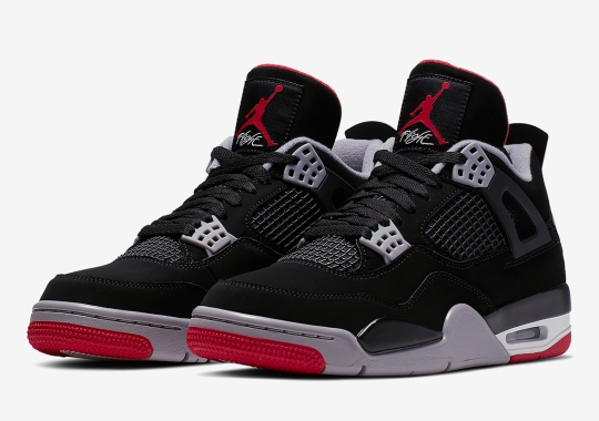 "promo code a904a 75883 Official Images Of The Air Jordan 4 ""Bred"""