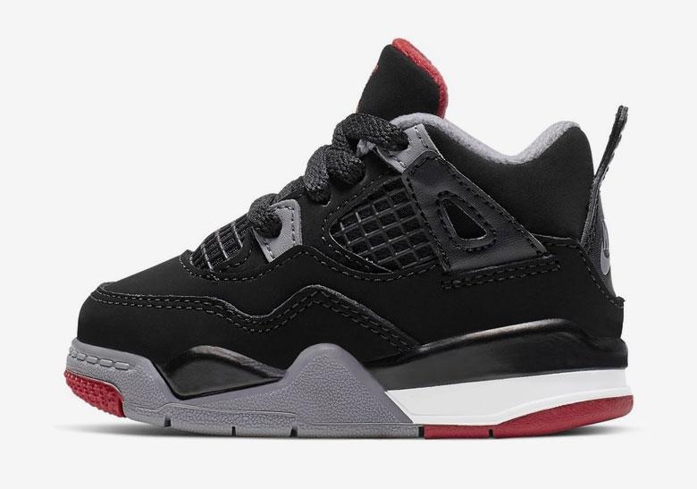 Air Jordan 4 Black Fire Red Cement Grey