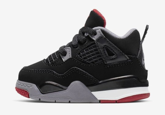 "The Air Jordan 4 ""Bred"" Is Releasing In Toddler Sizes"