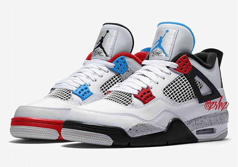 """57af568f4 A """"What The"""" Air Jordan 4 Retro Is Rumored For Black Friday The beloved  What The look arrives on the 1989 original."""