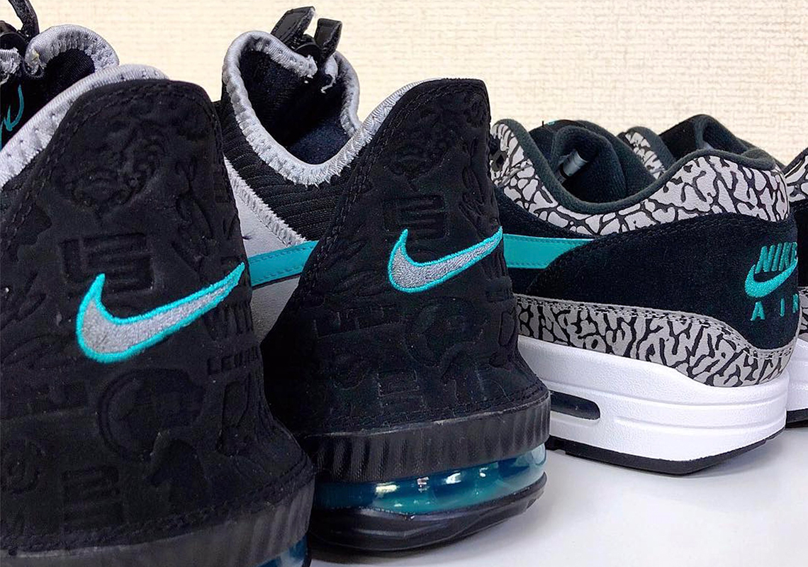 """a633c775ceb atmos Teases Release Of The Nike LeBron 16 Low """"Clear Jade"""""""