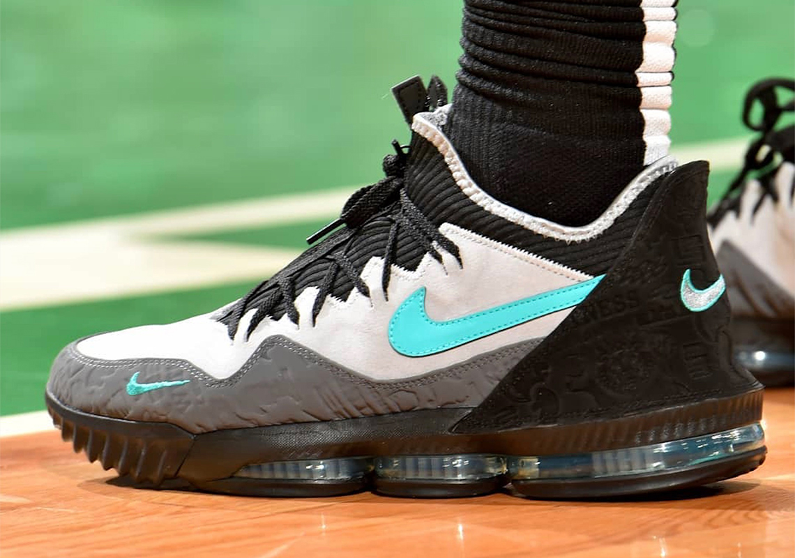 low priced caa54 e9d1c atmos Nike LeBron 16 Low Clear Jade CD9471-003   SneakerNews.com