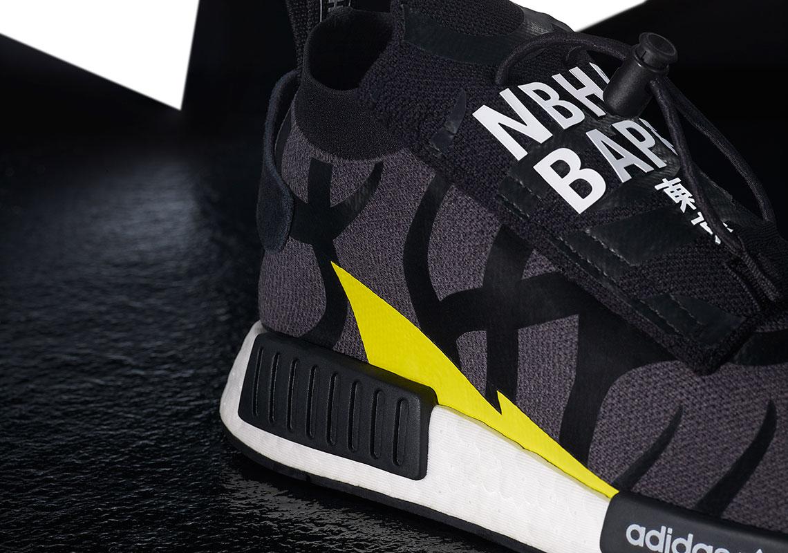 28f4a68c3284e BAPE NEIGHBORHOOD adidas NMD STLT POD Release Info