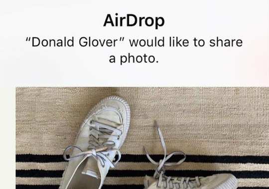 Donald Glover Is Randomly AirDropping Free Pairs Of His adidas Shoes At Coachella