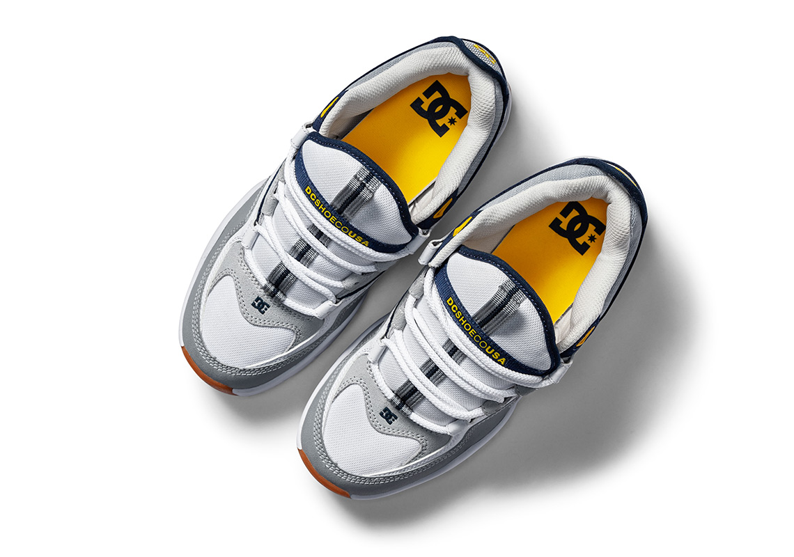 Dc Shoes Kalis Og White Grey Blue Yellow Store List