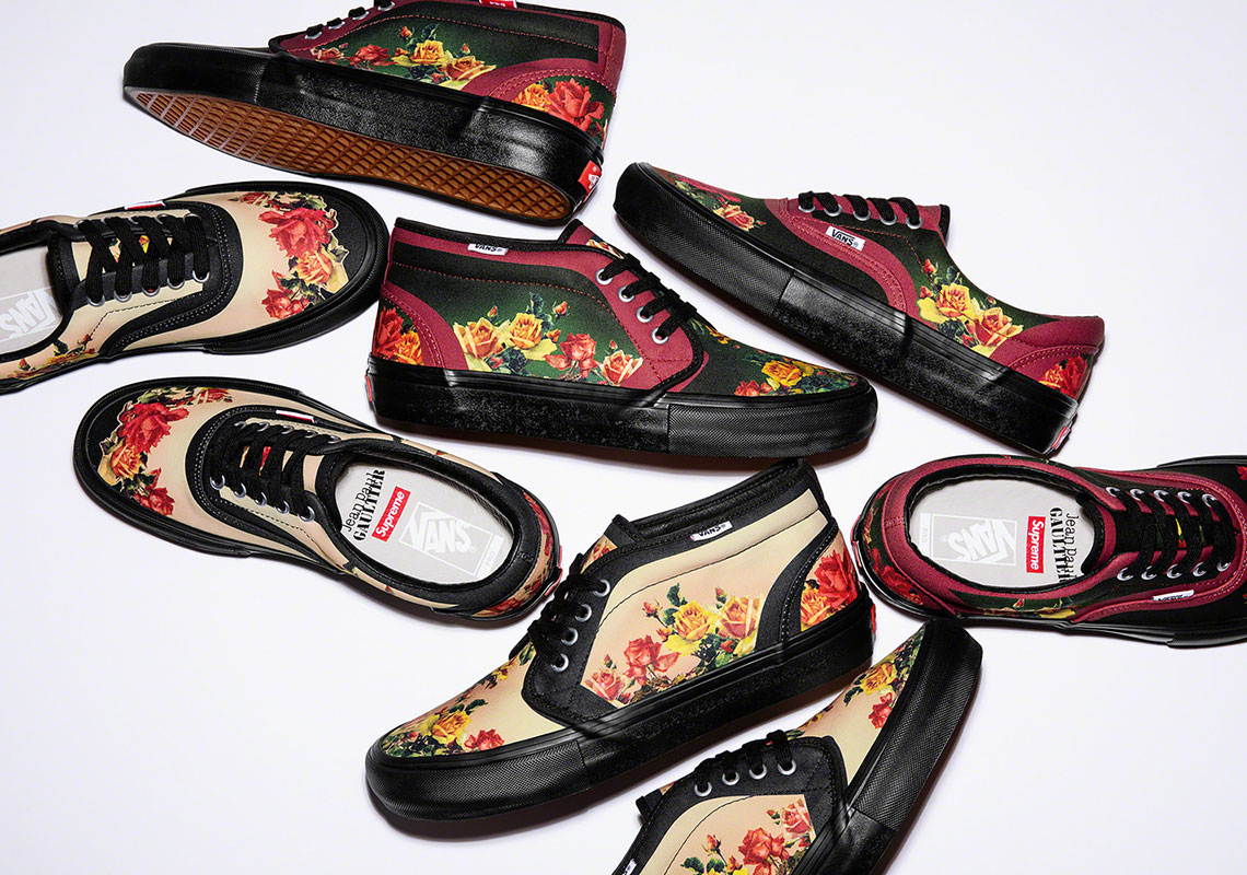 ca5888d9f114 Supreme s Collaboration With French Designer Jean Paul Gaultier Includes  Vans Footwear