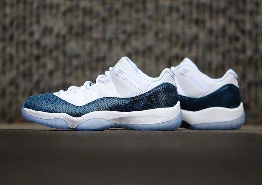 "promo code 7f7df c2732 Where To Buy The Air Jordan 11 Low ""Snakeskin"""