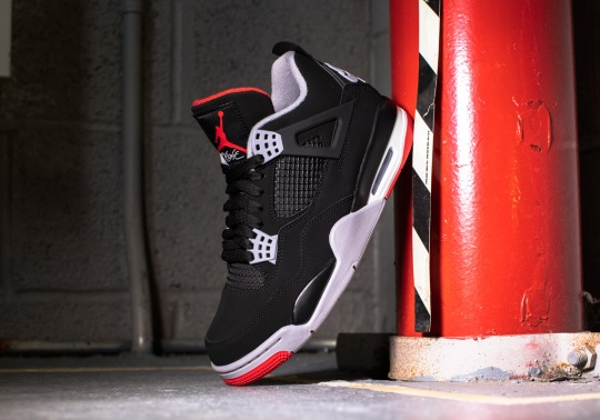 """The Air Jordan 4 """"Bred"""" With Nike Air Is Finally Releasing This Weekend"""