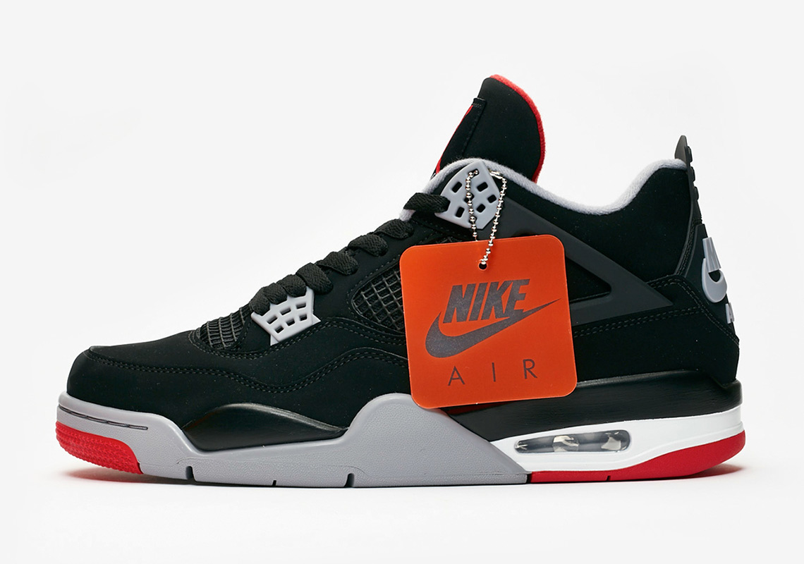 c89a4a5aabf6 Get a detailed look at this carefully-remastered take of the Air Jordan 4  Bred below