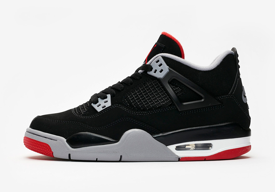 purchase cheap 8ca27 666f9 Air Jordan 4 Bred Grade School Release Date  May 4th, 2019  140. Color   Black Cement Grey-Summit White-Fire Red