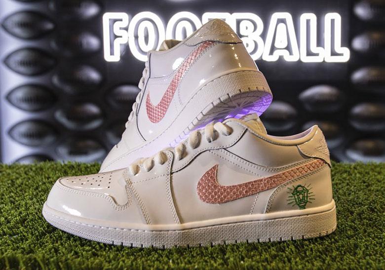 4d3e0305 Kyler Murray Draft Night Air Jordan 1 Low Nike K1 PE | SneakerNews.com