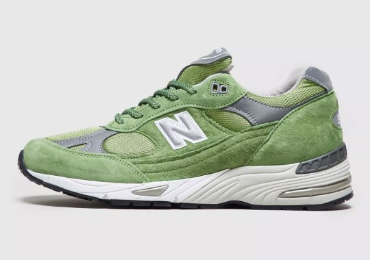 The New Balance 991 Arrives In A Spring Ready Green Suede