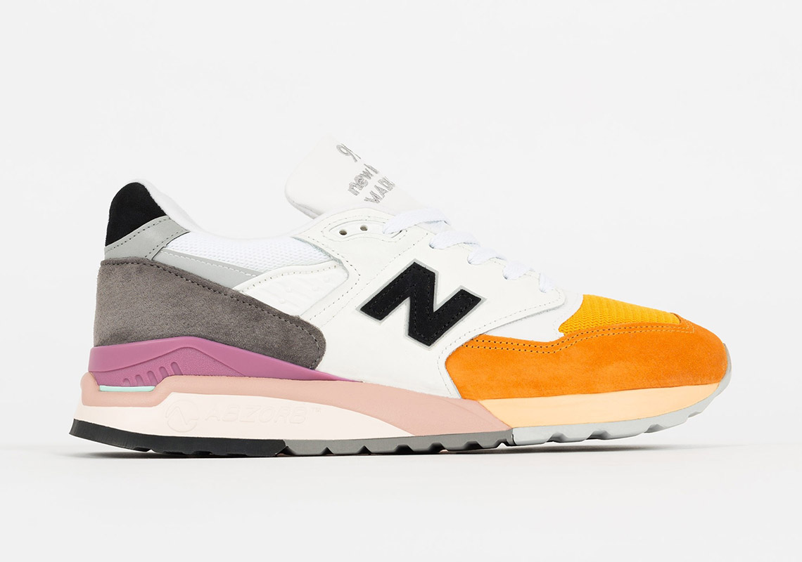classic fit new product professional sale New Balance 998 Citrus White/Orange Release Info ...