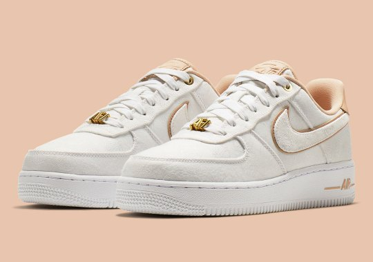 b71a9608aa6d This Lux Nike Air Force 1 Features All-Over-Printed Basketballs