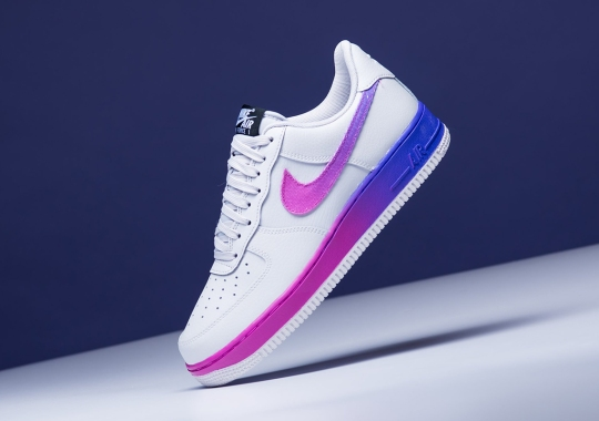 """purchase cheap 9e633 b88f6 Bold Gradient Detailing Appears On The Nike Air Force 1 Low """"Hyper Grape"""""""