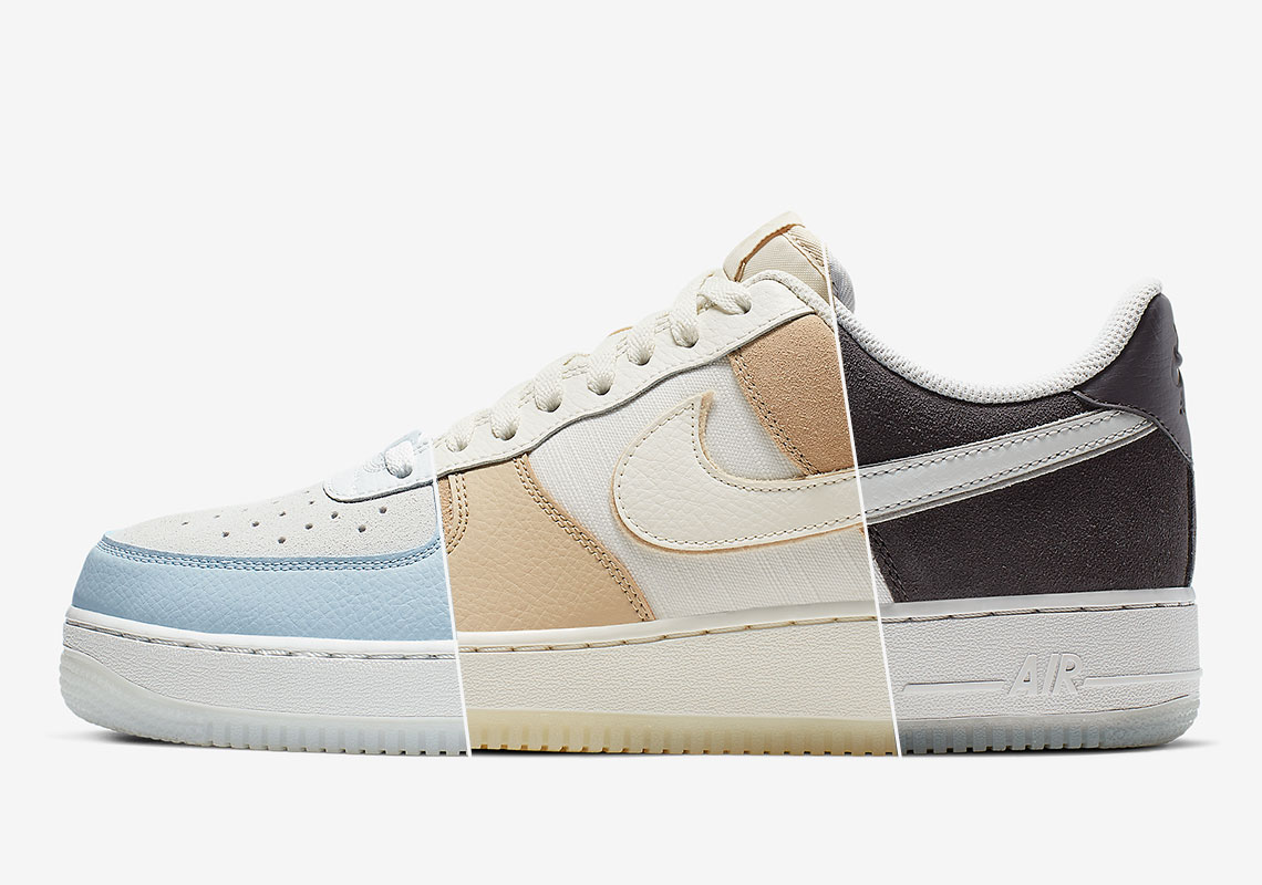 chaussures de sport 735a9 ee574 Nike Air Force 1 Low Grey Tan Blue Store List + Info ...