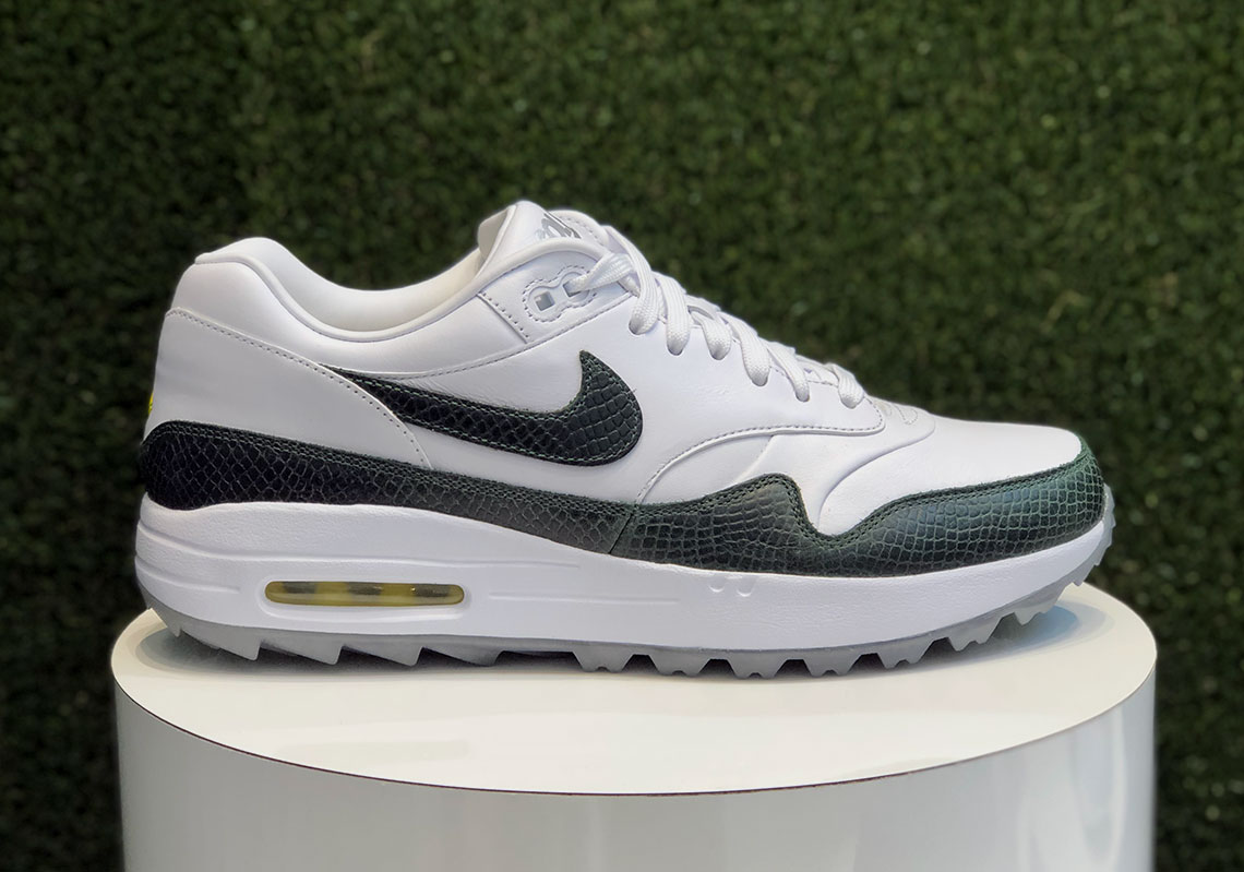 Nike Air Max 1 G Men's Golf Shoe WhiteGrey  PGA TOUR