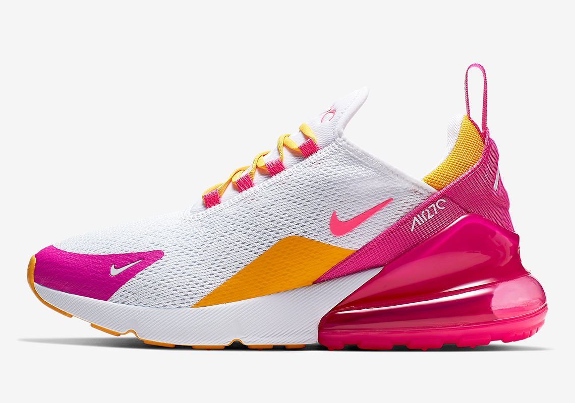 Nike Air Max 270 Women's White Fuchsia Gold CI1963 166