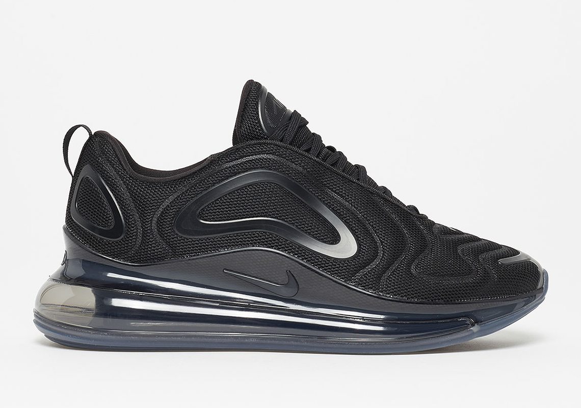 400f1c36b91b6 The Nike Air Max 720 In Black Mesh Releases On April 11th