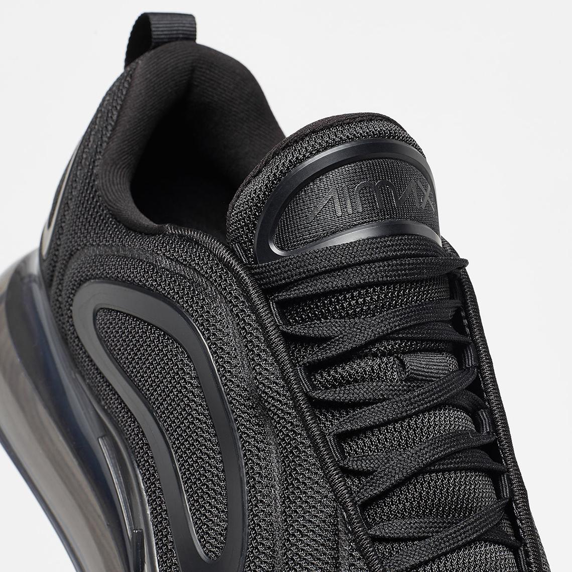 bc7b3aeae7c3 Nike Air Max 720 Black Mesh AO2924-007 Release Date