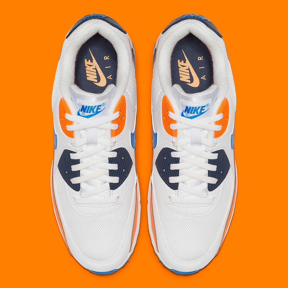 d0ddd9beee Nike Air Max 90 Orange Blue AJ1285-104 | SneakerNews.com