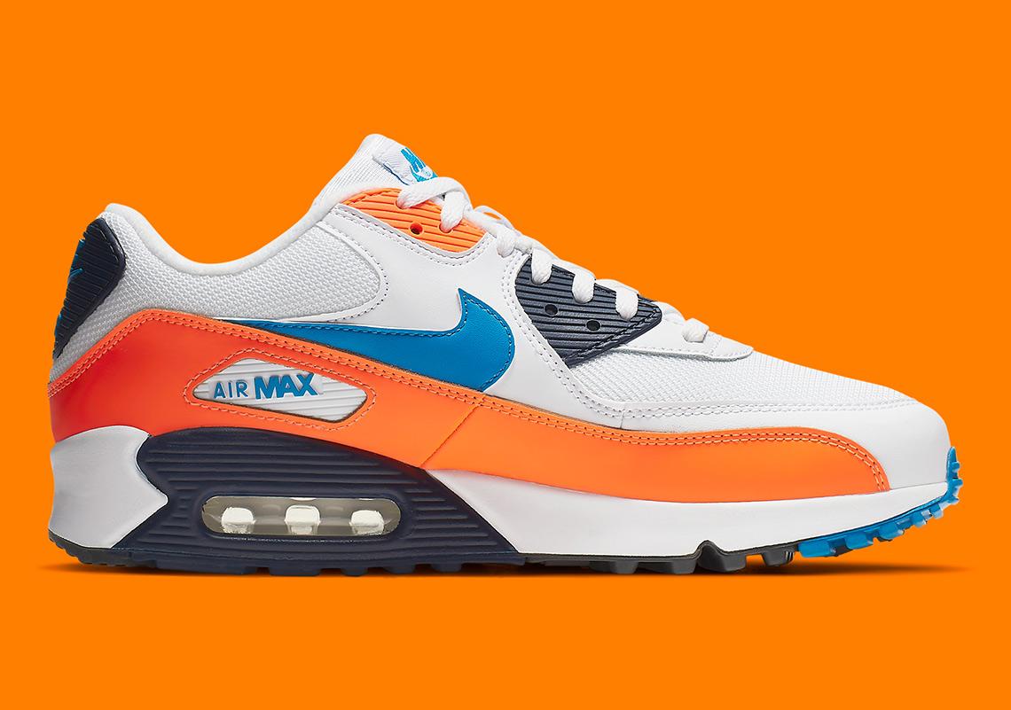 Nike Air Max 90 Orange Blue AJ1285 104 |
