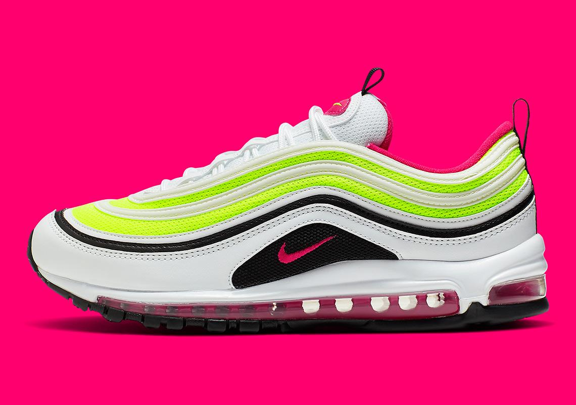 340d45a5f3 Nike Air Max 97 White Rush Pink Volt CI9871-100 | SneakerNews.com