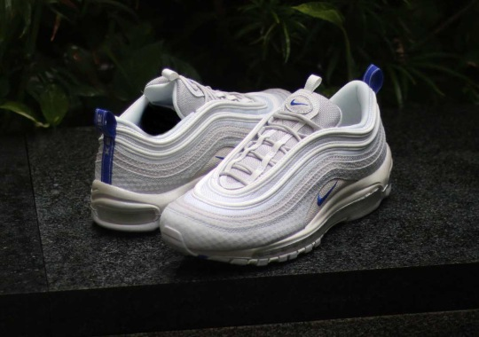 """check out 21268 3b8d4 Nike Adds Textured Layers To The Air Max 97 """"Racer Blue"""""""
