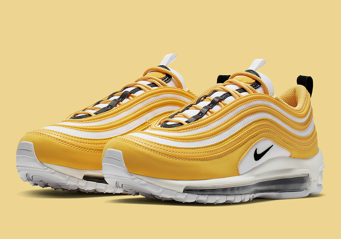 3d58cbea9 Nike Air Max 97 Women's White Yellow Black 921733-703 | SneakerNews.com