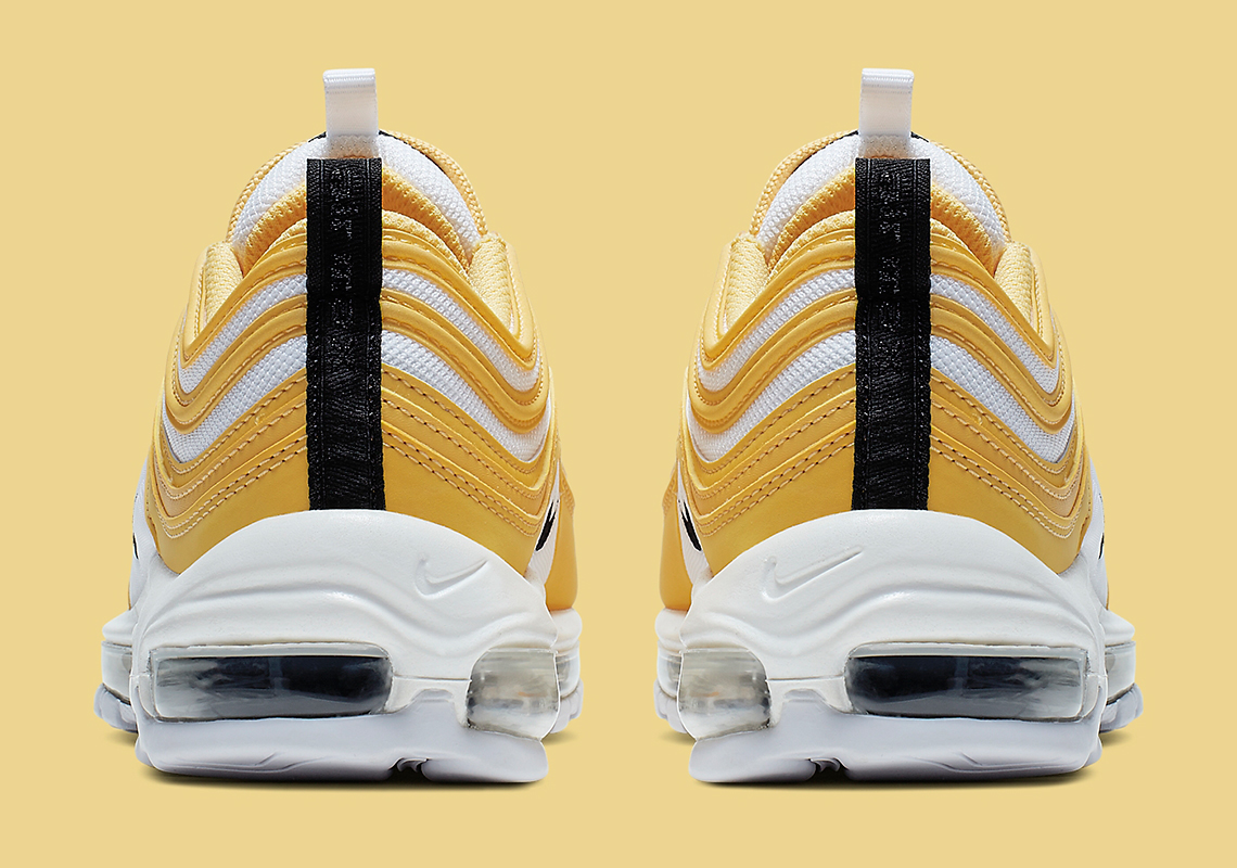 super popular f8011 99980 Nike Air Max 97 Women s White Yellow Black 921733-703   SneakerNews.com