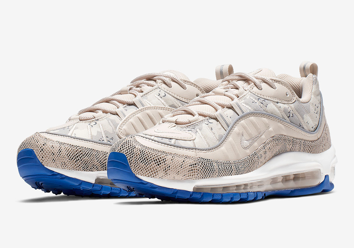 brand new 58b29 b4582 Nike Adds Contrasting Snakeskin And Camo To The Air Max 98