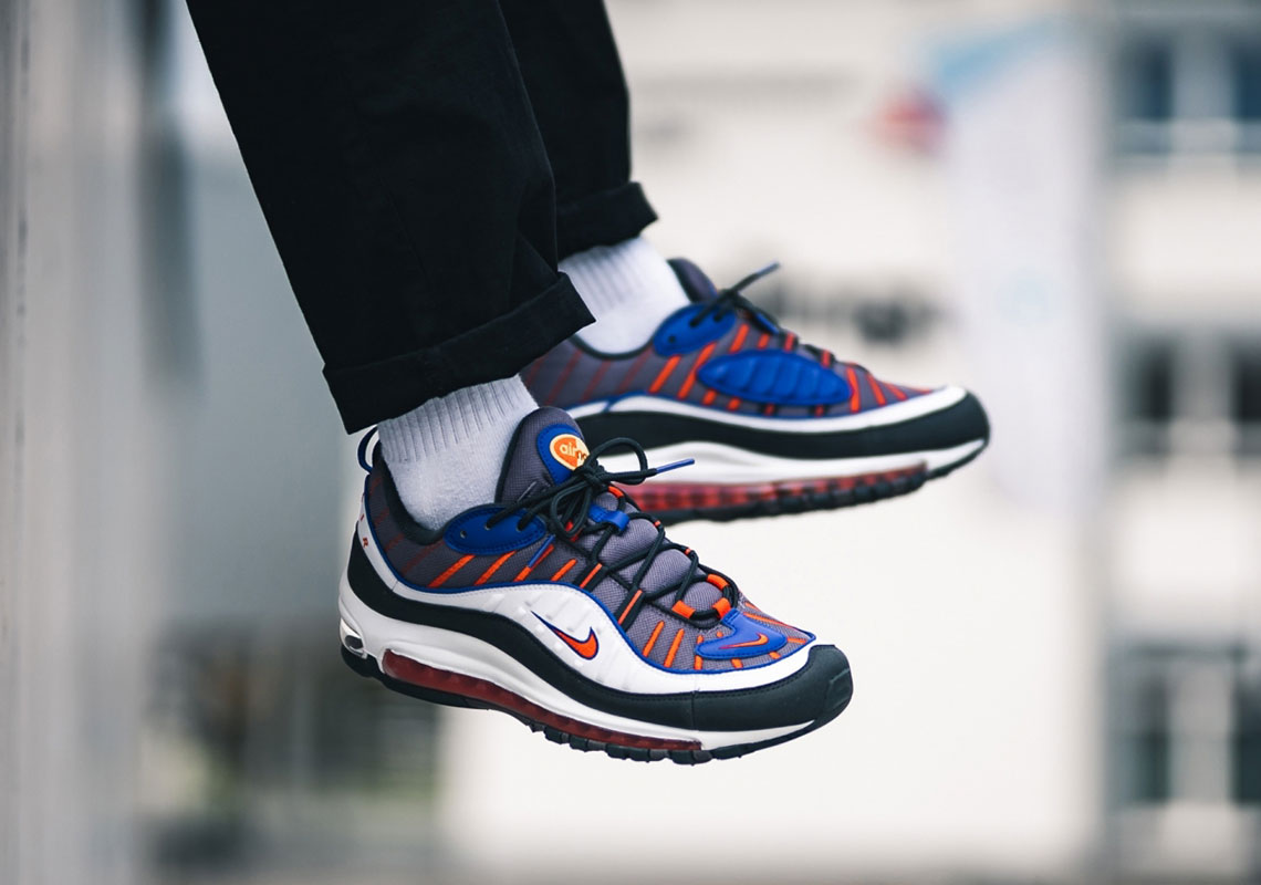 info for 2cd35 f092a Nike Air Max 98 Gunsmoke Team Orange 640744-012 Release Info ...