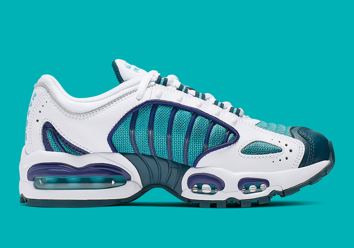 finest selection 4ce2f 1c42f Nike Air Max Tailwind IV GS Color  White Regency Purple-Spirit Teal-Blue  Fury-Nightshade Style Code  BQ9810-101. Advertisement