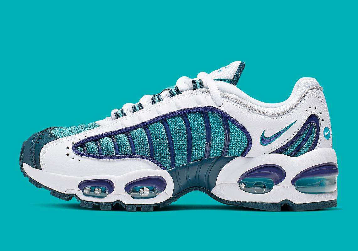 chaussures de séparation 362ac ab585 Nike Air Max Tailwind 4 GS White Purple Teal BQ9810-101 ...