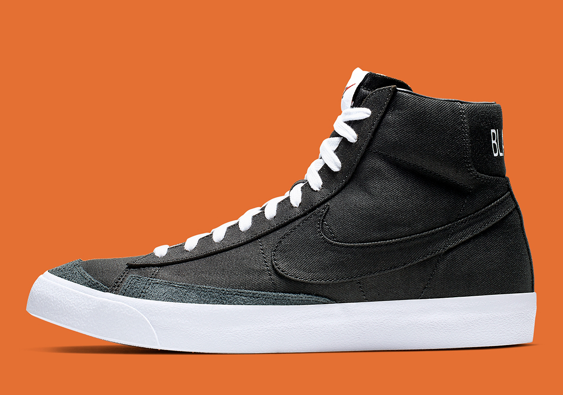 new products 37306 5c59a Nike Blazer Mid Vintage 77 Canvas Black White CD8238-001 Store List ...